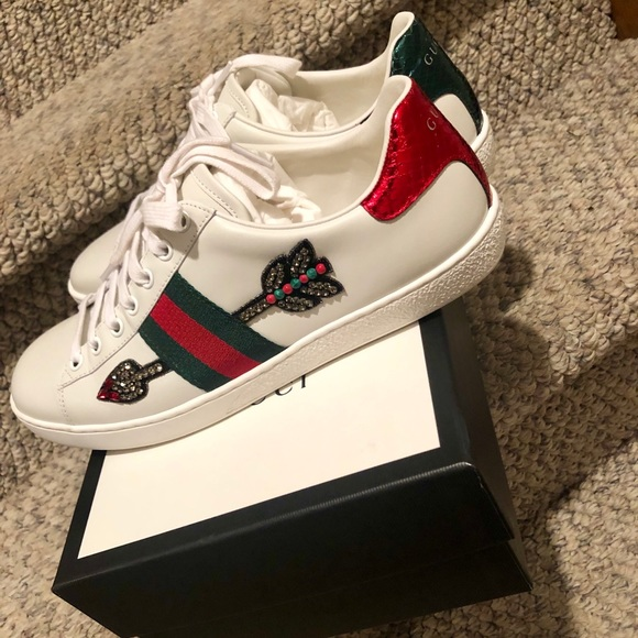 7e8be11cc98 Gucci Ace Embroidered Sneaker - Arrow